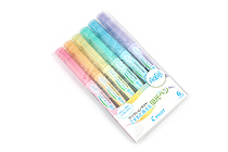 Pilot FriXion Light Soft Color Erasable Highlighter - 6 Color Set - PILOT SFL-60SL-6CS