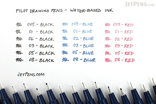 Pilot Drawing Pen - Water-Based Ink - 05 - Red - PILOT S-15DRN5-R