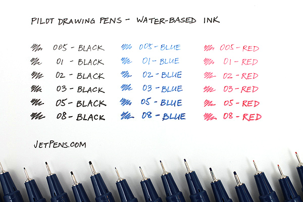 Pilot Drawing Pen - Water-Based Ink - 03 - Red - PILOT S-15DRN3-R