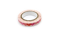 Pine Book Nami Nami Deco Washi Tape - 8 mm - Heart - PINE BOOK TM00072