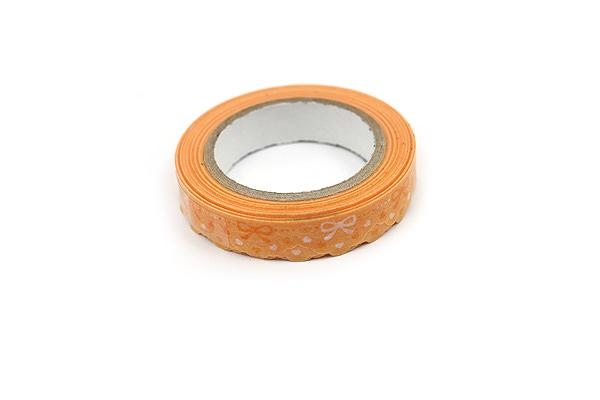 Pine Book Nami Nami Deco Washi Tape - 8 mm - Lace Ribbon Yellow - PINE BOOK TM00067