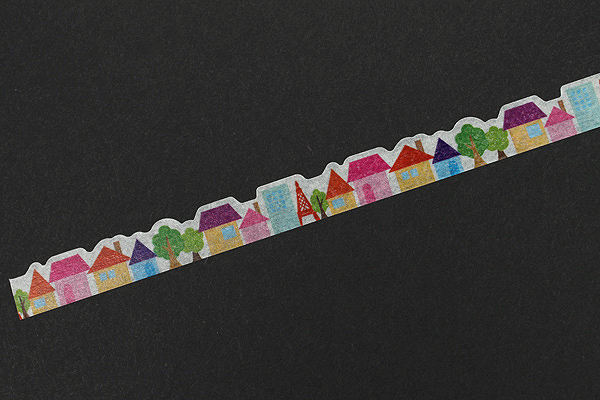 Pine Book Nami Nami Deco Washi Tape - 8 mm - Town - PINE BOOK TM00113