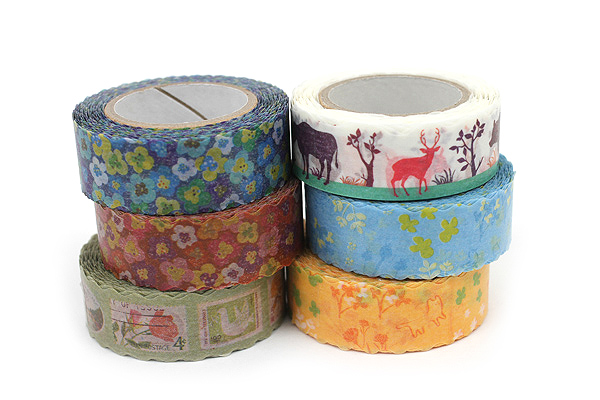 Pine Book Nami Nami Washi Tape - 15 mm - Cat Orange - PINE BOOK TM00034