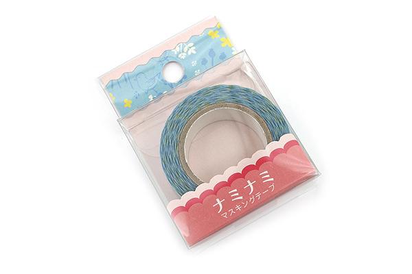 Pine Book Nami Nami Masking Tape - 15 mm - Bird Blue - PINE BOOK TM00033