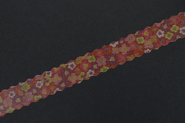 Pine Book Nami Nami Washi Tape - 15 mm - Retro Flower Red - PINE BOOK TM00013