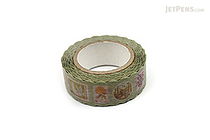 Pine Book Nami Nami Washi Tape - 15 mm - Retro Stamp - PINE BOOK TM00107