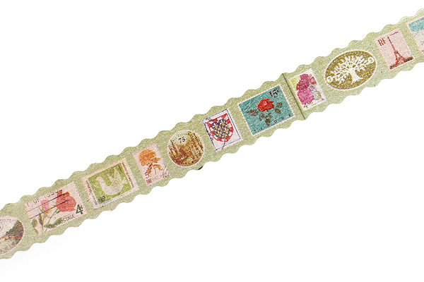 Pine Book Nami Nami Washi Tape - 15 mm - Retro Stamp - PINE BOOK TM00107