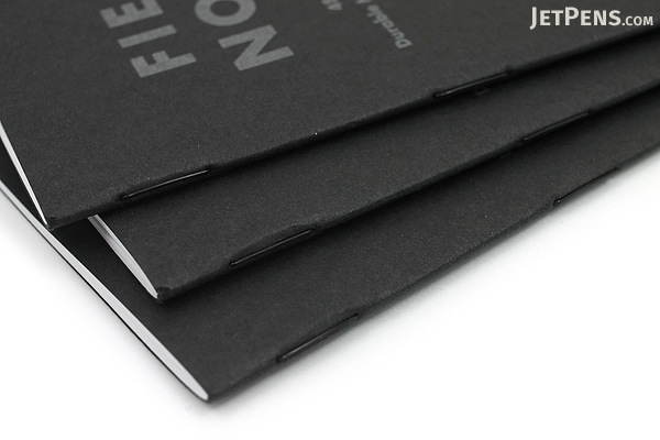 "Field Notes Color Cover Memo Book - Pitch Black - 3.5"" X 5.5"" - 48 Pages - 5 mm Dot Grid - Pack of 3 - FIELD NOTES FN-21"