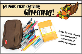 Pen Perks: JetPens Thanksgiving Giveaway