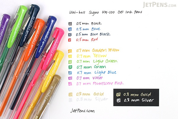 Uni-ball Signo UM-100 Gel Pen - 0.7 mm - Golden Yellow - UNI UM100.3