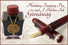 Pen Perks: Platinum Fountain Pen and J. Herbin Ink Giveaway