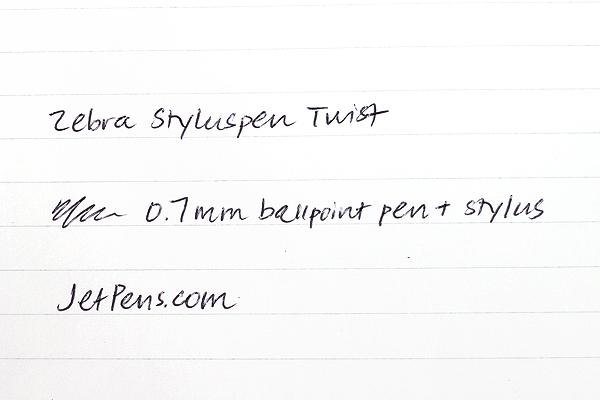 Zebra Styluspen Twist - 0.7 mm Ballpoint Pen + Stylus - Silver Body - ZEBRA 33161
