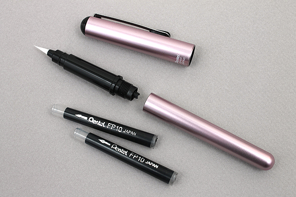 Pentel Kirari Portable Brush Pen - Medium - Gold Body - PENTEL XGFKPX-A