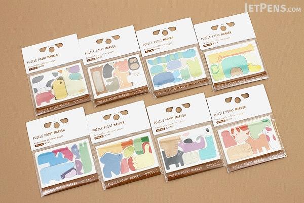 Midori Puzzle Point Marker Adhesive Notes - Birds - MIDORI 11727-006