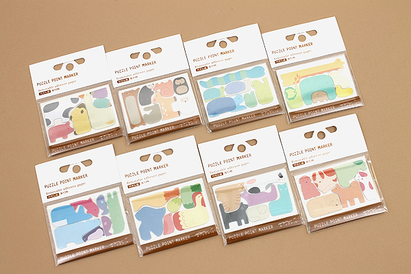 Midori Puzzle Point Marker Adhesive Notes - Forest Animals - MIDORI 11724-006