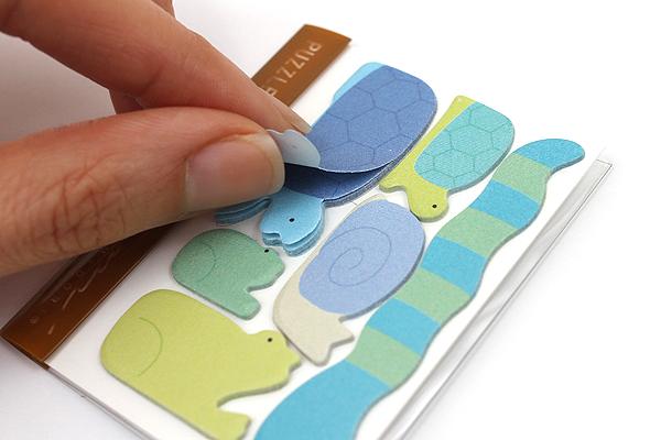 Midori Puzzle Point Marker Adhesive Notes - Water Animals - MIDORI 230823