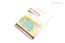 Midori Puzzle Point Marker Adhesive Notes - Zoo - MIDORI 11714-006