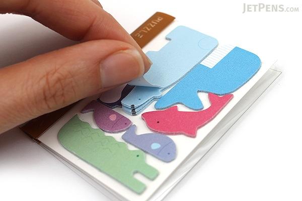 Midori Puzzle Point Marker Adhesive Notes - Aquarium - MIDORI 11715-006