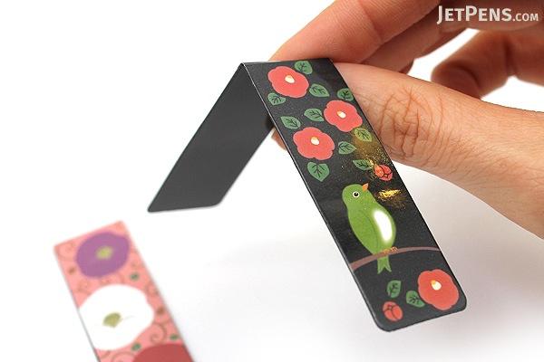 Kurochiku Magnetic Bookmark - Tsubaki (Camellia) - KUROCHIKU 71212703