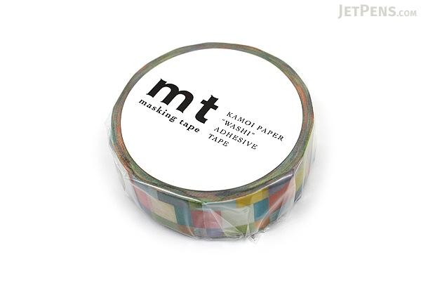 MT Patterns Washi Tape - Mosaic Bright - 15 mm x 10 m - MT MT01D176