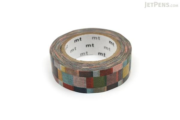 MT Patterns Washi Tape - Mosaic Greyish - 15 mm x 10 m - MT MT01D177