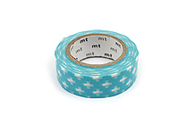MT Patterns Washi Tape - Cross Light Blue - 15 mm x 10 m - MT MT01D161
