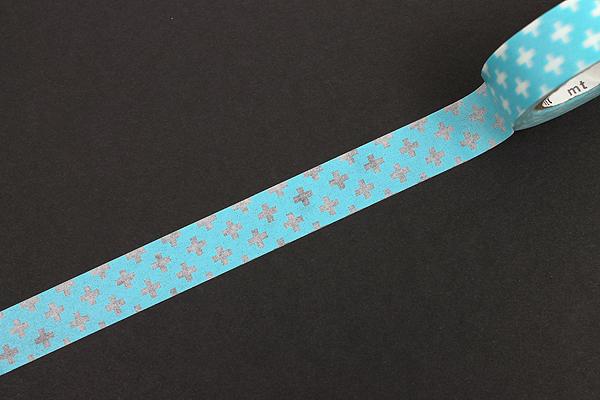 MT Patterns Washi Tape - Cross Light Blue - 15 mm x 10 m - MT MT01D161