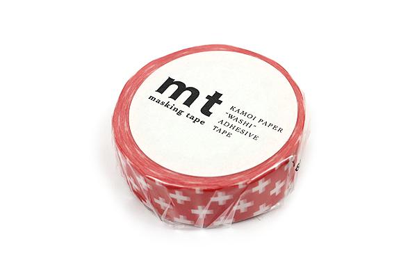 MT Patterns Washi Tape - Cross Carmine - 15 mm x 10 m - MT MT01D160