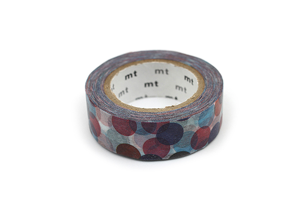 MT Patterns Washi Tape - Spot Blue - 15 mm x 10 m - MT MT01D118