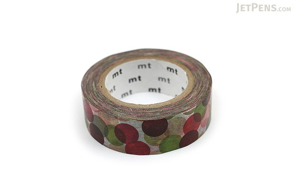 MT Patterns Washi Tape - Spot Wine - 15 mm x 10 m - MT MT01D117
