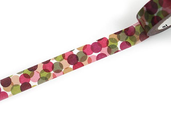 MT Patterns Washi Tape - Spot Wine - 15 mm x 10 m - MT MT01D117
