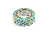 MT Patterns Washi Tape - Tile Green - 15 mm x 10 m - MT MT01D165