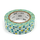 Mt Deco Washi Tape - Tile Green - 15 mm x 10 m