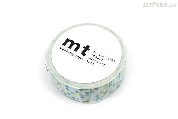 MT Patterns Washi Tape - Tile Green - 15 mm x 10 m - MT MT01D165