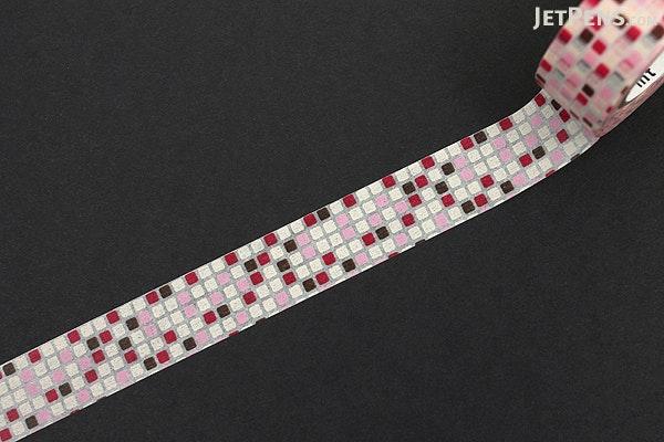 MT Patterns Washi Tape - Tile Pink - 15 mm x 10 m - MT MT01D164