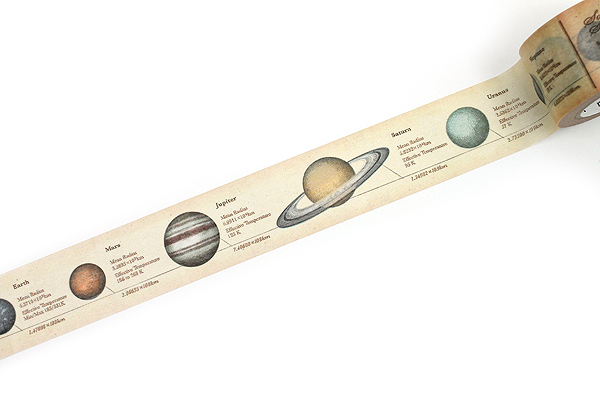 MT Ex Washi Tape - Encyclopedia Solar System - 30 mm x 10 m - MT MTEX1P35