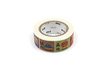 MT For Kids Washi Tape - Alphabet A-M - 15 mm x 7 m - MT MT01KID13