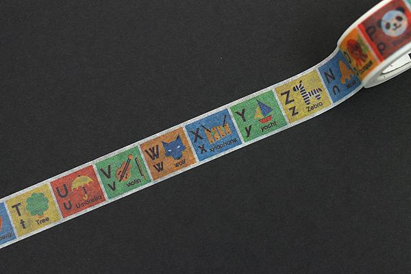 MT For Kids Washi Tape - Alphabet N-Z - 15 mm x 7 m - MT MT01KID14