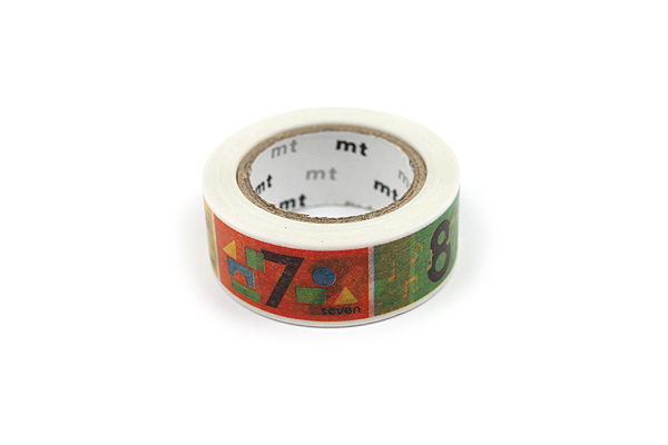 MT For Kids Washi Tape - Number - 15 mm x 7 m - MT MT01KID15