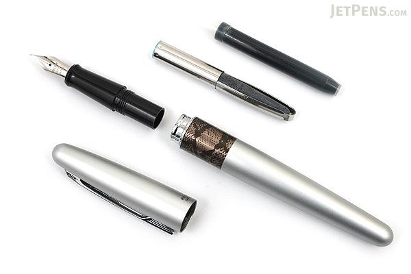 Pilot Metropolitan Fountain Pen - Silver Python - Fine Nib - PILOT MRFC1BLKFPYT