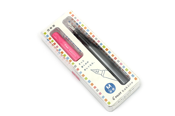 Pilot Kakuno Fountain Pen - Medium Nib - Pink - PILOT FKA-1SR-PM
