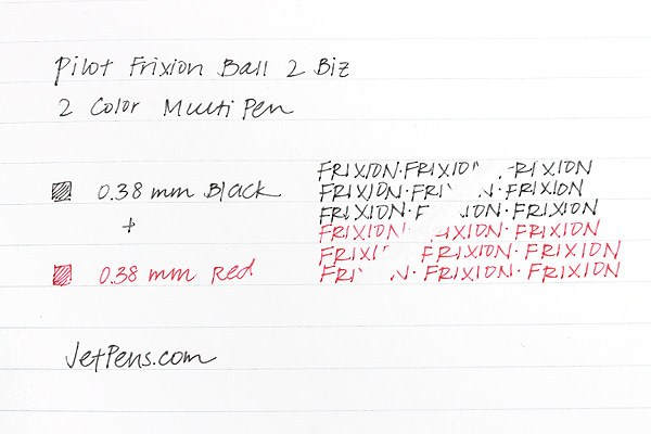 Pilot FriXion Ball 2 Biz 2 Color Gel Ink Multi Pen - 0.38 mm - Pink - PILOT LFBT-3SUF-P