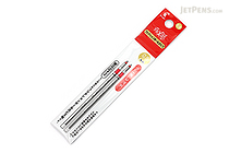 Pilot FriXion Ball 2 Biz Gel Pen Refill - 0.5 mm - Red - Pack of 2 - PILOT LFTRF40EF-2R