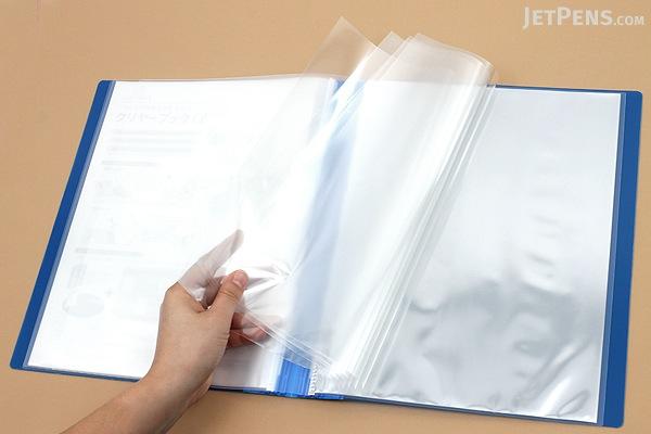 Kokuyo Novita Alpha Expandable Clear Book - A4 - Blue - KOKUYO RA-NT24B