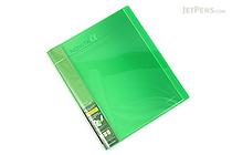 Kokuyo Novita Alpha Expandable Clear Book - A4 - Light Green - KOKUYO RA-NT24LG