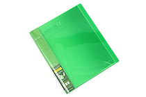 Kokuyo Novita Alpha Expandable Clear Book - A4 - Light Green - KOKUYO RA-NT24LG