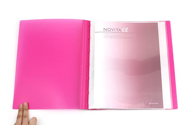 Kokuyo Novita Alpha Expandable Clear Book - A4 - Pink - KOKUYO RA-NT24P