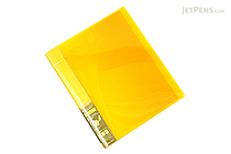 Kokuyo Novita Alpha Expandable Clear Book - A4 - Yellow - KOKUYO RA-NT24Y