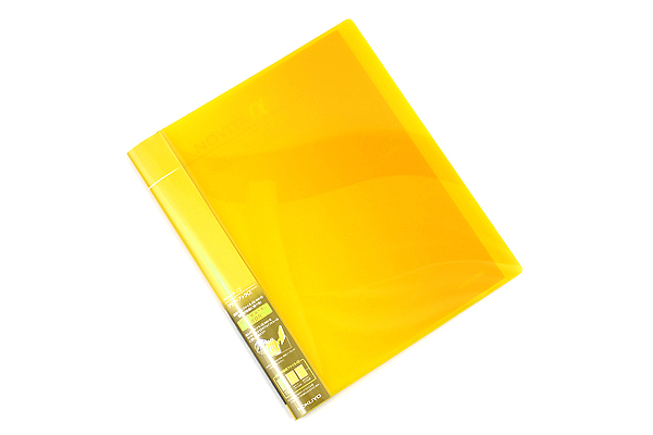 Kokuyo Novita Alpha Expandable Clear Book - A4 - Yellow - KOKUYO RA-NT24Y