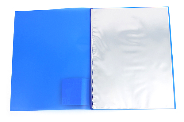 Kokuyo Novita Alpha Pocket File - A4 - 12 Pockets - Blue - KOKUYO RA-NF12B